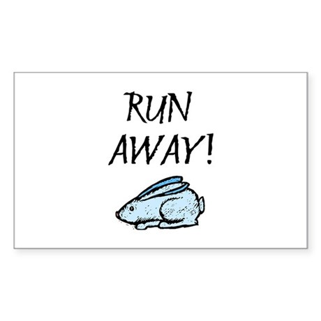 Run Away! Rectangle Sticker