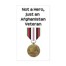 Not a Hero - Afghanistan Rectangle Decal