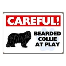 Careful Bearded Collie Banner