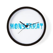 Monserrat Faded (Blue) Wall Clock