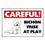 Careful Bichon Frise Banner