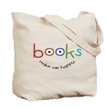 Books Make Me Happy Tote Bag
