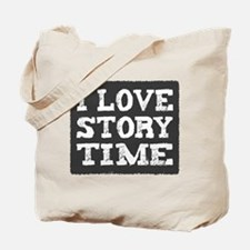 I Love Story Time Tote Bag