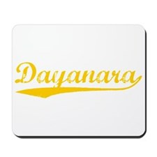 Vintage Dayanara (Orange) Mousepad