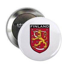 "Finland Coat of Arms 2.25"" Button"