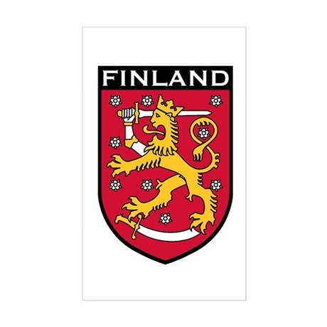 Finland Coat of Arms Rectangle Sticker