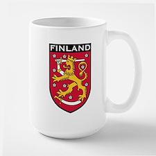 Finland Coat of Arms Large Mug