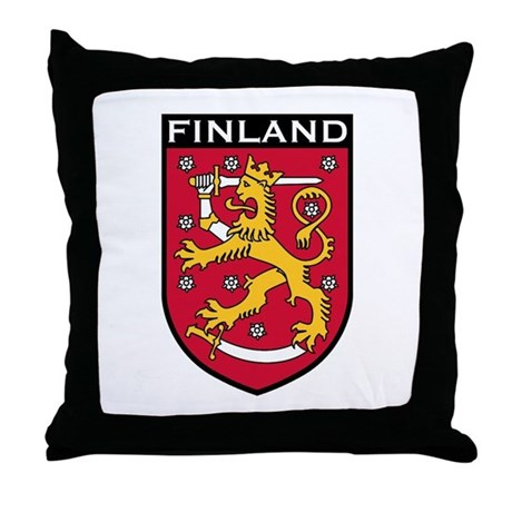 Finland Coat of Arms Throw Pillow