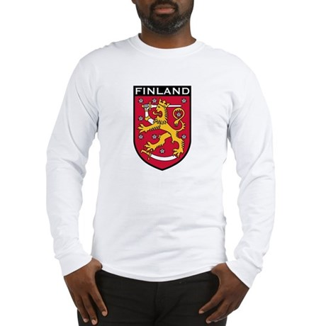 Finland Coat of Arms Long Sleeve T-Shirt