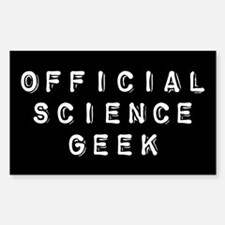 Official Science Geek Rectangle Decal