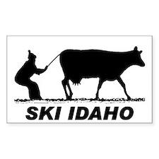 Ski Idaho Rectangle Decal