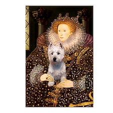 Queen Liz & Her Westie Postcards (Package of 8)
