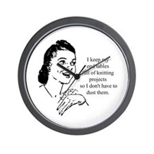 Knitting - Don't Have to Dust Wall Clock