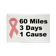 3 Days 60 Miles 1 Cause Rectangle Magnet (100 pack