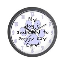 My dog is addicted Wall Clock