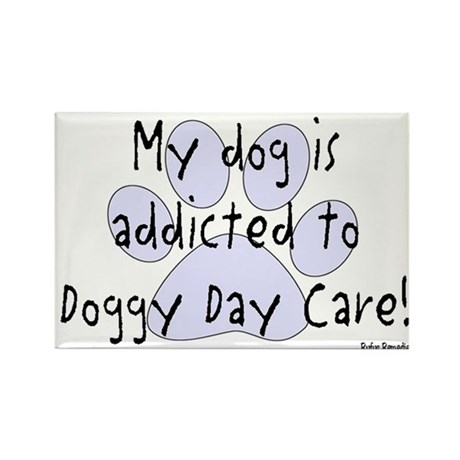My dog is addicted Rectangle Magnet (100 pack)