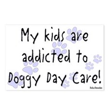 My kids are addicted Postcards (Package of 8)