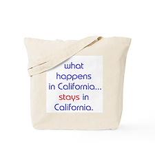 WHAT HAPPENS IN CALIFORNIA Tote Bag