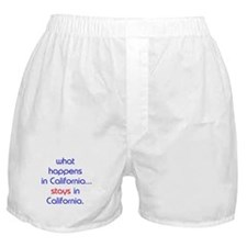 WHAT HAPPENS IN CALIFORNIA Boxer Shorts