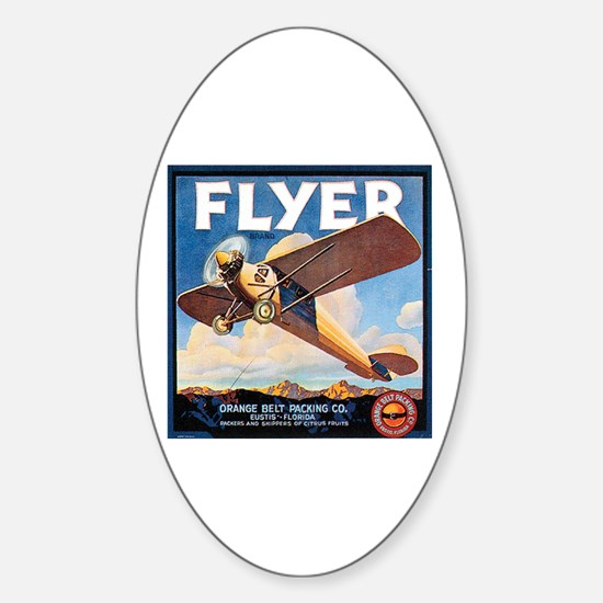 The Orange Ad Plane Oval Decal