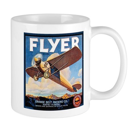 The Orange Ad Plane Mug