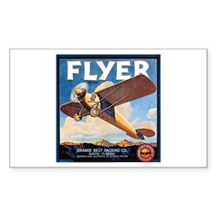 The Orange Ad Plane Rectangle Sticker 10 pk)