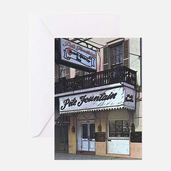 Fountains French Quarter Musi Greeting Card
