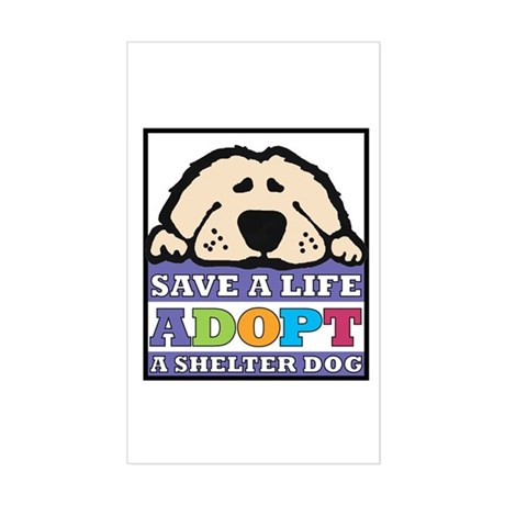 Save a Life Rectangle Sticker