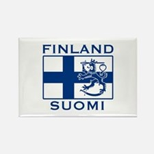 Finland Suomi Flag Rectangle Magnet