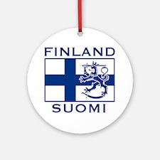 Finland Suomi Flag Ornament (Round)