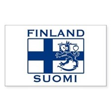 Finland Suomi Flag Rectangle Decal