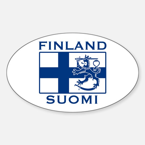 Finland Suomi Flag Oval Decal