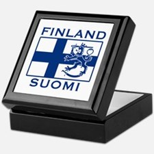 Finland Suomi Flag Keepsake Box