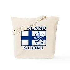 Finland Suomi Flag Tote Bag