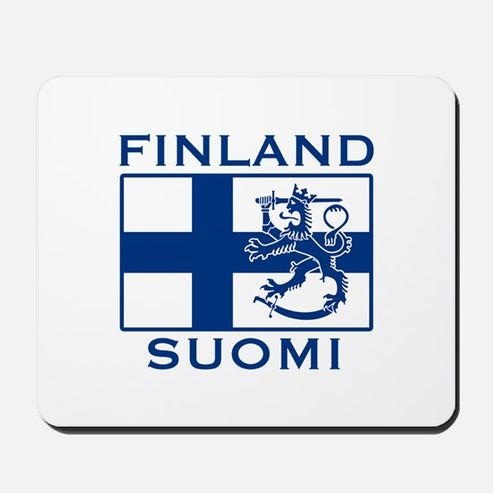 Finland Suomi Flag Mousepad