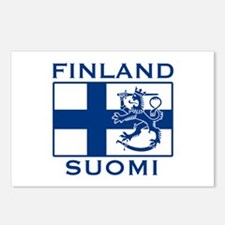 Finland Suomi Flag Postcards (Package of 8)