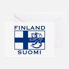 Finland Suomi Flag Greeting Cards (Pk of 10)