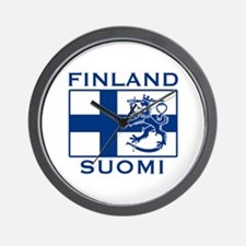 Finland Suomi Flag Wall Clock