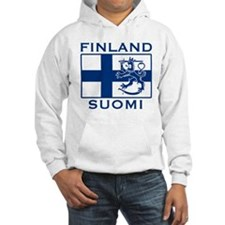 Finland Suomi Flag Hoodie