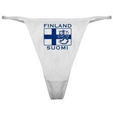 Finland Suomi Flag Classic Thong