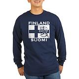 Finland Long Sleeve T-shirts (Dark)