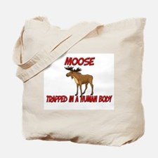 Moose trapped in a human body Tote Bag