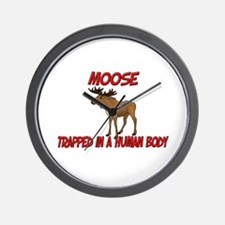 Moose trapped in a human body Wall Clock