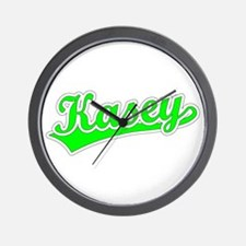 Retro Kasey (Green) Wall Clock