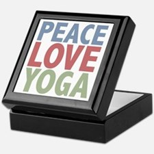 Peace Love Yoga Keepsake Box