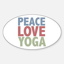 Peace Love Yoga Oval Decal