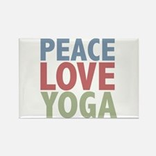 Peace Love Yoga Rectangle Magnet (100 pack)