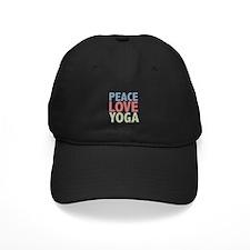 Peace Love Yoga Baseball Hat