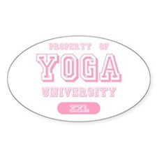 Property Of Yoga University Oval Decal