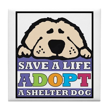 Save a Life Tile Coaster